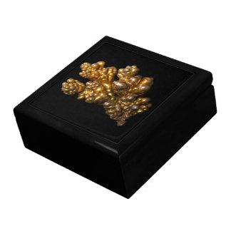 Boîte À Souvenirs Photo de cuivre dendritique sur l'arrière - plan