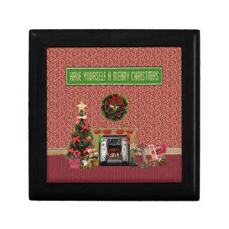 Boîte À Souvenirs Pièce de Noël, cheminée, arbre, jouets