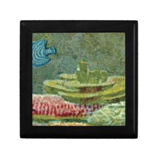 Boîte À Souvenirs plantes de mer sur le fond océanique