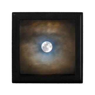 Boîte À Souvenirs Pleine lune dans les nuages