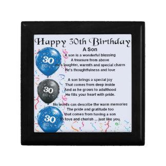 Boîte À Souvenirs Poème de fils - 30ème conception d'anniversaire