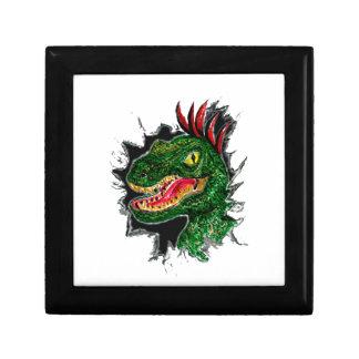Boîte À Souvenirs Portrait grunge de Velociraptor
