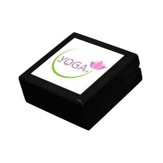 Boîte À Souvenirs Poses de YOGA avec un lotus rose