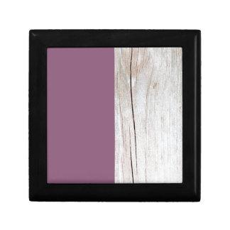 Boîte À Souvenirs Purple + Wood