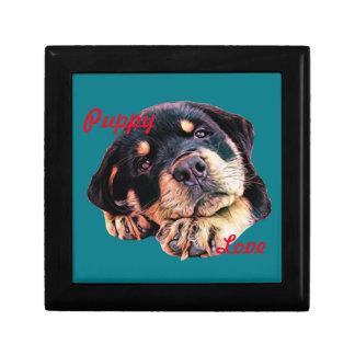 Boîte À Souvenirs Race allemande canine de chien de Rott d'amour de