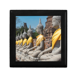 Boîte À Souvenirs Rangée des statues de Bouddha, Ayutthaya,