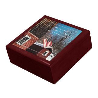 Boîte À Souvenirs Rappels patriotiques de drapeau de grange tout