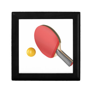 Boîte À Souvenirs Raquette et boule de ping-pong