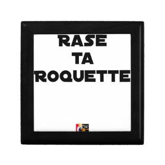 Boîte À Souvenirs RASE TA ROQUETTE - Jeux de mots - Francois Ville