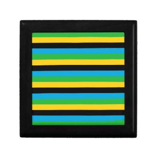Boîte À Souvenirs Rayures de drapeau de la Tanzanie