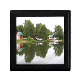 Boîte À Souvenirs Réflexions sur le capot de lac, Anchorage, Alaska