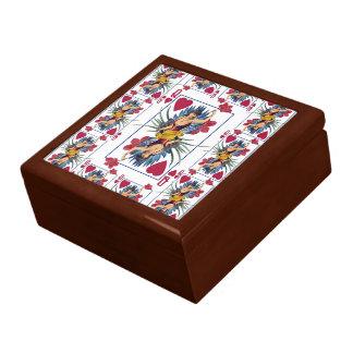 Boîte À Souvenirs Reine des coeurs et des fleurs