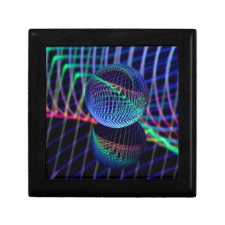Boîte À Souvenirs Remous et lignes dans la boule en verre