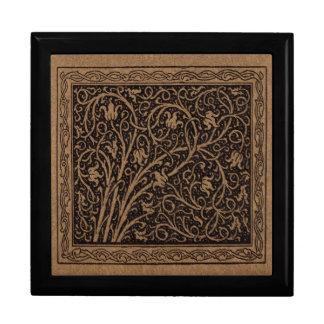 Boîte À Souvenirs Remous floraux vintages de Brown