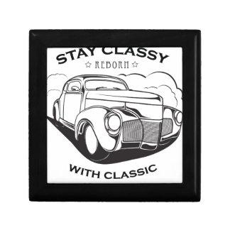 Boîte À Souvenirs Rétro cru de voiture classique