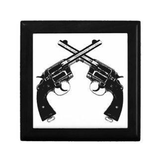 Boîte À Souvenirs Revolvers croisés