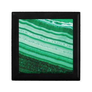 Boîte À Souvenirs roche oblique verte