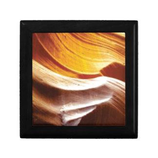 Boîte À Souvenirs roches bronzages du soleil d'orange