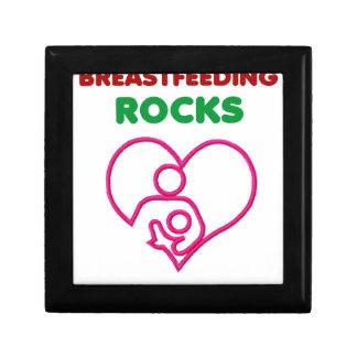 Boîte À Souvenirs roches d'allaitement au sein. Mère et cadeau de