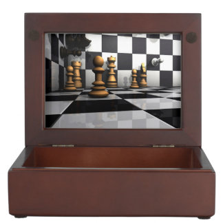 Boîte À Souvenirs Roi de jeu d'échecs