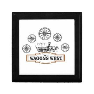Boîte À Souvenirs roues occidentales d'ot de chariots