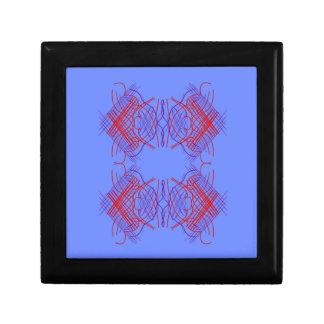 Boîte À Souvenirs Rouge bleu de mandala de conception