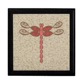 Boîte À Souvenirs Rouge de libellule d'infini