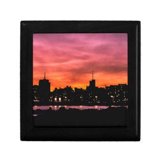 Boîte À Souvenirs Scène de coucher du soleil de paysage urbain,