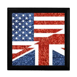 Boîte À Souvenirs scintillement Etats-Unis britannique