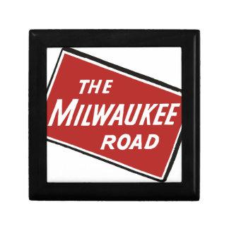 Boîte À Souvenirs Signe ferroviaire 2 de route de Milwaukee