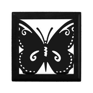 Boîte À Souvenirs Silhouette de papillon de Flourish