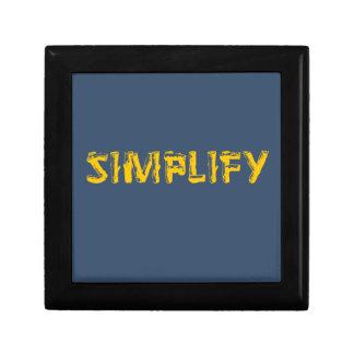Boîte À Souvenirs Simplifiez