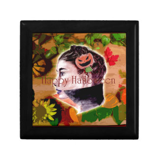 Boîte À Souvenirs Sorcière heureuse et Jack-o'-lantern de Halloween