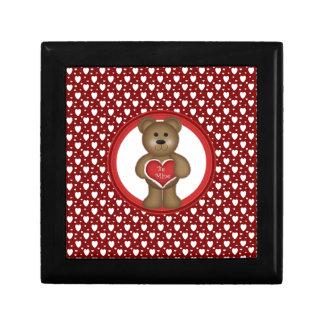 Boîte À Souvenirs Soyez le mien, ours debout de Valentine, coeurs,