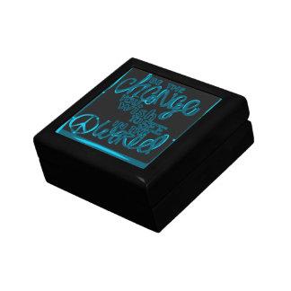 Boîte À Souvenirs Soyez le signe noir et bleu de changement de paix