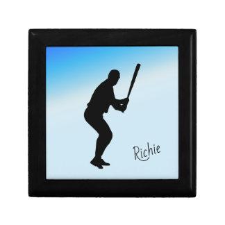 Boîte À Souvenirs Sports de bleu de pâte lisse de base-ball
