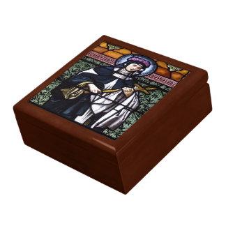 Boîte À Souvenirs St Rose de Lima - priez pour le vitrail nous-souil