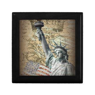 Boîte À Souvenirs Statue de New York de manuscrits de la liberté