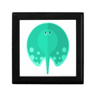 Boîte À Souvenirs Style de primitif de pastenague de turquoise