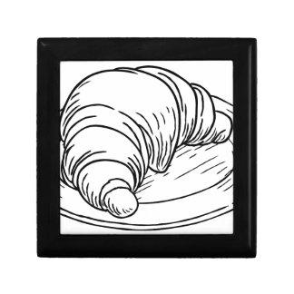 Boîte À Souvenirs Style vintage de gravure sur bois en pâtisserie de