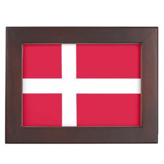 Boîte À Souvenirs Symbole de drapeau de pays du Danemark longtemps
