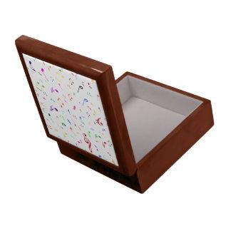 Boîte À Souvenirs Symboles musicaux dans des couleurs d'arc-en-ciel