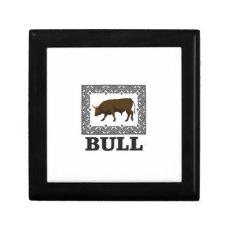 Boîte À Souvenirs taureau brun encadré
