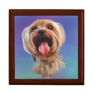 Boîte À Souvenirs Terrier de Yorkshire mignon, yorkie, art numérique