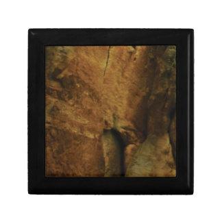 Boîte À Souvenirs texture bronzage de roche