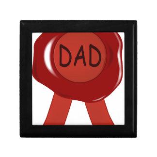 Boîte À Souvenirs Timbre de cire de fête des pères