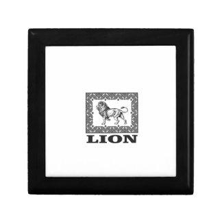 Boîte À Souvenirs timbre de lion