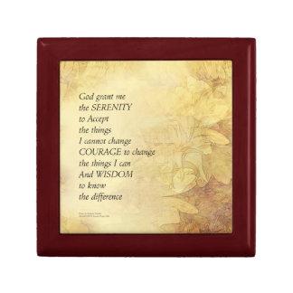 Boîte À Souvenirs Tournesol d'abrégé sur prière de sérénité