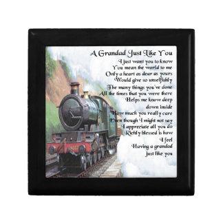 Boîte À Souvenirs Train - poème de papy