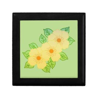 Boîte À Souvenirs trois fleurs jaunes